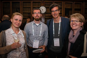 CHASSY's Verena Siewers with delegates from Finland and Sweden at the opening reception of ISSY33